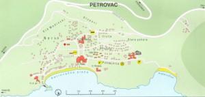 Baka Zlata - Sobe i apartmani - Petrovac na moru - Crna Gora - Mapa